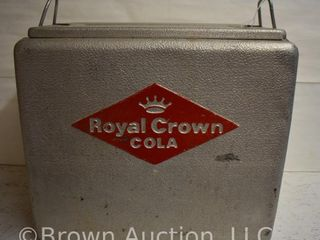 Royal Crown Cola picnic cooler ice chest w embossed logo