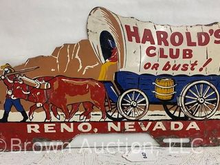 Harold s Club or bust  Reno  NV large tag topper
