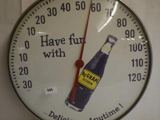 Nu Grape Soda bubble glass advetising thermometer