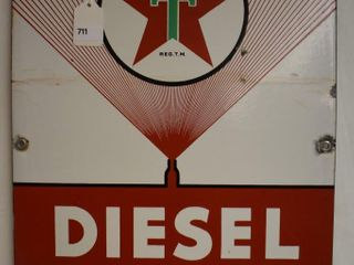 Texaco Diesel Chief fuel ssp sign
