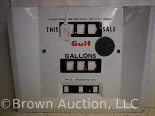 Porcelain Gulf gas pump face plate