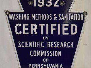 1932 Washing Methods and Sanitation ssp laundry shield sign