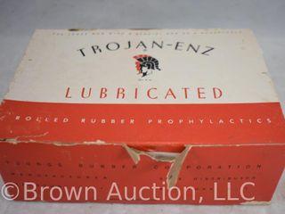 Full box of Trojan Enz prophylactics  original box