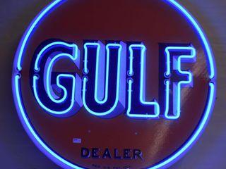 Gulf Oil modern reproduction Fantasy Neon sign
