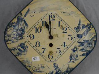 Ben S loeb 8 day Dutch scene kitchen clock