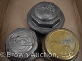 3  Vintage hubcaps   lexington  KisselKar  Haynes