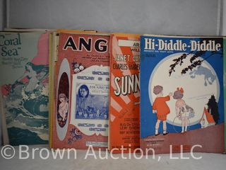 60  pieces of old sheet music  great shape for the most part