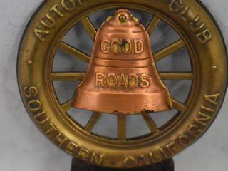 Good Roads Automobile Club  Southern California tag topper