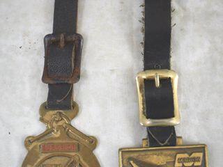 2  Watch fobs  Superior Equipment Co  Marion Dresser Industries