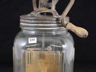 No  40 glass butter churn