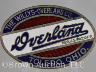 The Willys Overland  oval radiator emblem  2 d
