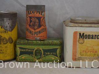 4  Old tins