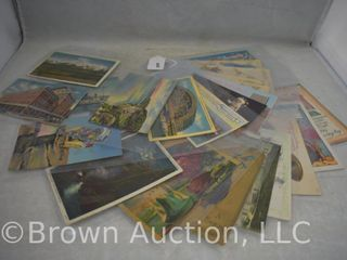 30  Old post cards incl  seasonal and souvenir  1920 s