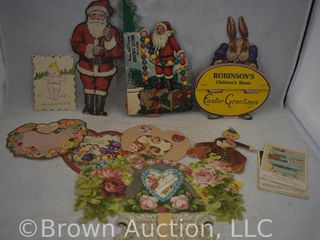 Nice assortment of Vintage valentines  Christmas and Easter greetings