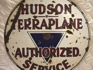 Hudson Terraplane Authorized Service ssp 42 d advertising sign