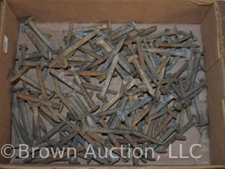 Box lot of 100  assorted dated RR nails
