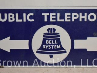 Bell System  Public Telephone  DSP arrow sign