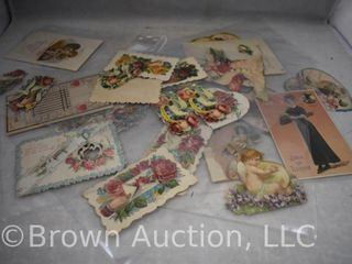 21  Old Valentine  Easter and sympathy post cards and greeting cards