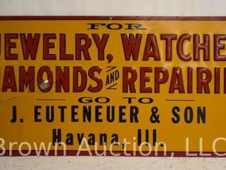 Jewelry  Watches  Diamonds and Repairing embossed sst sign