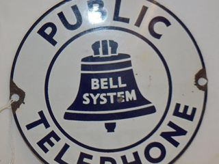 Bell System  Public Telephone  SSP plate  7 d