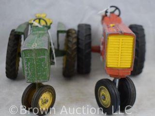 2  Toy tractors