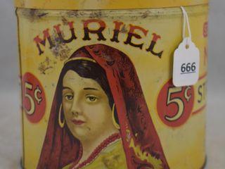 Muriel Senators mild straight 5 cent Cigars tin