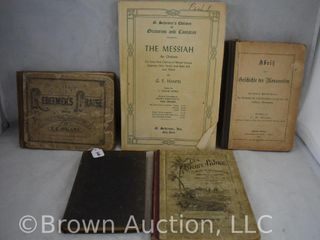 5  Religious books incl  hymnals  Discipline of United Brethren in Christ Church  etc
