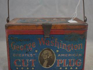 George Washington Cut Plug tobacco tin lunch box