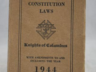 1944 Knights of Columbus Charter Constitution laws