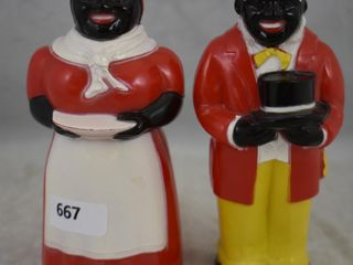 Aunt Jemima and Uncle Mose salt and pepper set