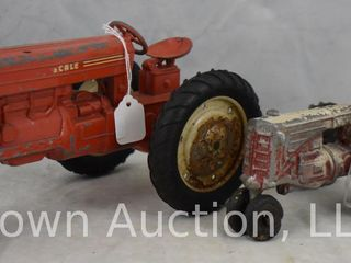 Tru Scale red metal tractor and MM tractor w driver