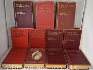 11  Harold Bell Wright hard back books