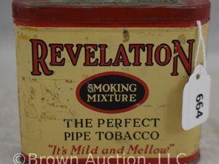 Revelation pipe tobacco tin  3 h