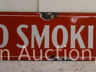 Standard Oil SSP  No Smoking  sign