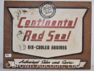 Continental Red Seal easel back counter top sign