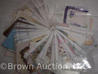 47  Vintage handkerchiefs