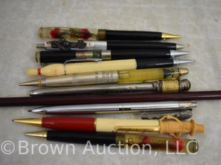 9  Vintage pens and mechanical pencils  some advertising