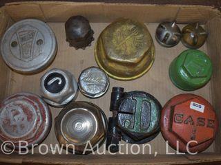 12  Vintage hubcaps