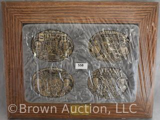 4  Framed belt buckles   The Blue and the Gray Collection