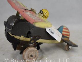 Marx 1940 s key wind up  looping Plane