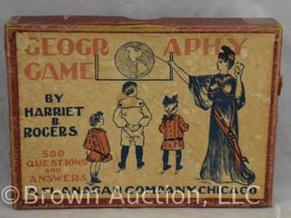 Geography Game by Harriet B  Rogers  original box