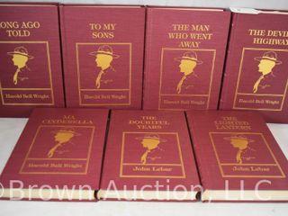 5  Harold Bell Wright and  2  John lebar hard back books