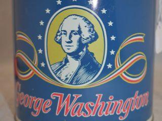 George Washington pipe tobacco 14 oz  round can
