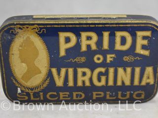Pride of Virginia sliced plug tin