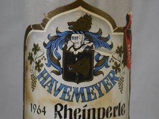 Rheinperle Havemeyer German wine bottle