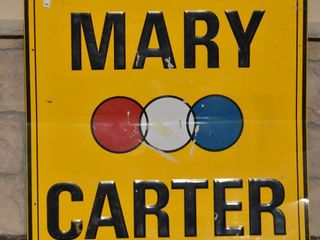 Mary Carter SST embossed sign