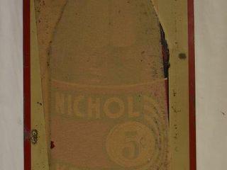 Nichol Kola embossed sst advertising sign