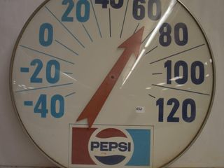 Pepsi Cola bubble blass front advertising thermometer