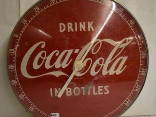 Coca Cola advertising thermometer