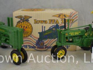 2  John Deere tractors
